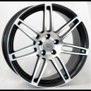 4 JANTES NEW RS4 COSMA TWO BLACK/POLISHED